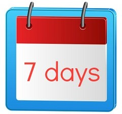 7 days calendar small