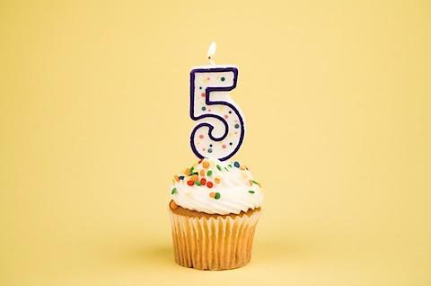 5 year business anniversary